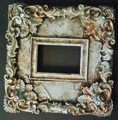 Michelle Butler Designs Ornate Leaf 14x14 Table Top Heirloom Picture Frame SHOP www.crownjewel.design