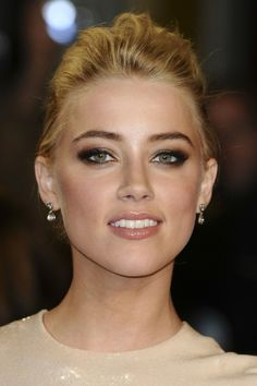 Amber Heard, my favorite make-up look Beauty Make-up, Bridal Beauty, Wedding Beauty, Beauty Hacks, Hair Beauty, Beauty Secrets, Beauty Products, Wedding Makeup For Brown Eyes, Wedding Hair And Makeup