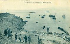 MARRUECOS. DESEMBARCO DE ALHUCEMAS. CONSTRUYENDO CAMINOS EN MORRO NUEVO. 1925.
