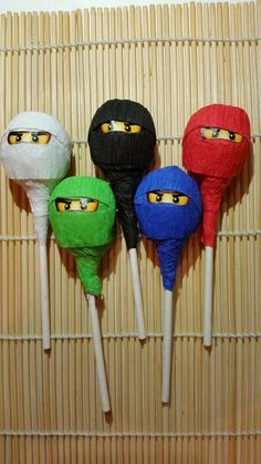 Fun lollipops at a Lego Ninjago boy birthday party!  See more party ideas at CatchMyParty.com!