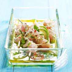 Découvrez la recette Poulet mariné au citron vert et au gingembre sur…