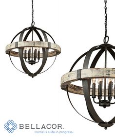 The Castello Series, combines authentic aspen wood with black finished wrought iron framing. A unique design that can lend itself to many surroundings. http://www.bellacor.com/productdetail/artcraft-ac10016-castello-black-and-aspen-wood-six-light-26-5-inch-wide-chandelier-1561276.htm?partid=social_pinterestad_1561276