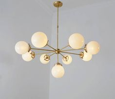 Modernist Chandelier Glass Balls Pendant Lamp Ceiling Light