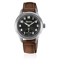 #Alpina - Heritage Pilot - Alpina has an extensive history in the world of aviation, including a partnership with world renowned plane manufacturer Cessna. It is Alpinas belief that a fine watch is an aviators most important tool and build all there pilots watches to exacting standards. The Pilot Heritage is a tribute to the original aviators pocket watches. A stunning feature of this watch is that the caseback opens at the push of a button to reveal the mechanism through sapphire crystal.
