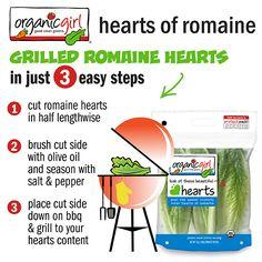 organicgirl hearts of romaine  #organicgirl #romainehearts #grilling #romaine