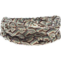 MISSONI Fascia Testa Lurex Green Brown Wide crochet head band and other apparel, accessories and trends. Browse and shop 4 related looks.