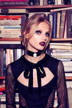 Anna Selezneva gets gothic in For Love & Lemons Fall 2013 Ads.
