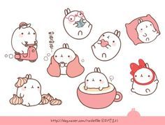 molang tell that you wouldn't fall for someone easily .your will make your self poud you will breathing more than find lovers Kawaii Doodles, Kawaii Chibi, Cute Doodles, Kawaii Art, Kawaii Anime, Kawaii Stickers, Cute Stickers, Kawaii Drawings, Cute Drawings