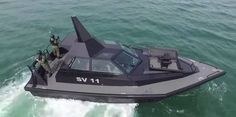 Speedy stealth gunboat by Frank Kowalski right out of Bond,& right out of Youghal,Co Cork.