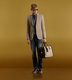 Gucci men carry on duffel sand color
