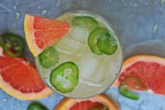 Vanilla Bean and Jalapeno Paloma - Today I am heading back in the tequila direction to give you more ideas for your next Mexican themed party. Again, I am straying from the traditional Margaritas and the limes; I am all about Palomas and grapefruit juice right now.