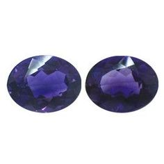 3.98 ct Pair of Oval Amethysts Deep Rich Purple -Gold Crane & Co.
