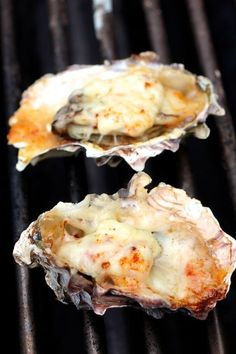 Grilled Oysters - Parmesan, Mayo, Smoked Paprika yummy stakes and oysters for dinner Fish Dishes, Seafood Dishes, Seafood Recipes, Seafood Platter, Shellfish Recipes, Pasta Recipes, Grilling Recipes, Cooking Recipes, Cooking Tips