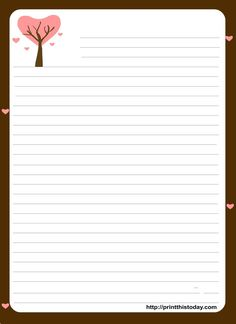 love letter stationery template - Google Search
