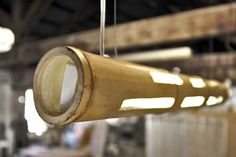 Bamboo Light: a bamboo cane ceiling lamp by Transfodesign | Please subscribe to my weekly newsletter at upcycledzine.com ! #upcycle