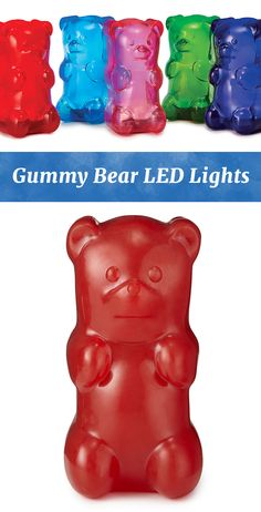 These cute, LED light-up bears will brighten up any space with a squeeze of their gummy bellies.