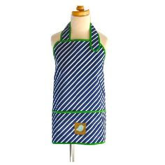 APRON SMOCK NAVY STRIPE - $21.95 - These stylish waterproof, stain-resistant Jaq Jaq Bird aprons are designed for the modern family who demands high style, excellent performance, and safety for their kids and the environment. Apron measures 43.80cm long and 53.35cm wide.    Suitable for ages 4 to 8 years. #sweetcreations #kids #gifts #jaqjaqbird