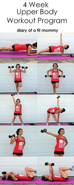 30 day upper body and ar workout program. No gym required! #homeworkouts #armjiggle