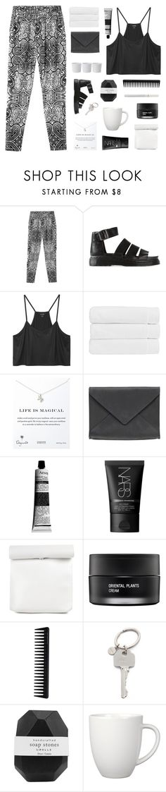 """""""if you want my future, forget my past"""" by sabulous836 ❤ liked on Polyvore featuring Monki, Dr. Martens, Christy, Dogeared, Ann Demeulemeester, Aesop, NARS Cosmetics, Koh Gen Do, GHD and Paul Smith"""