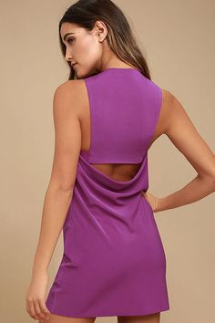 #Lulus - #Lulus Streamlined Style Magenta Cutout Dress - AdoreWe.com