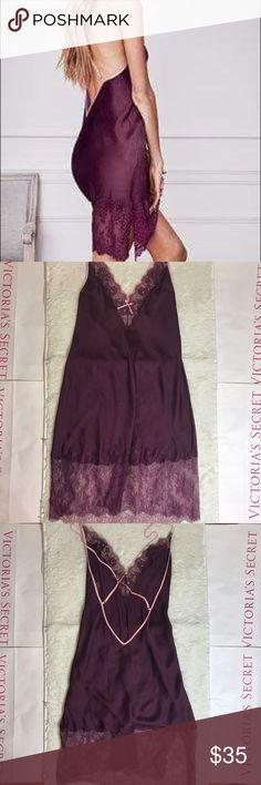 VS Small Lace&Satin Slip Unlined Victoria's Secret Intimates & Sleepwear Chemises & Slips