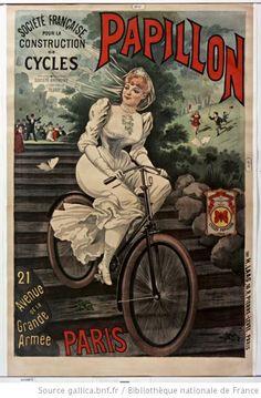 Société française pour la construction de cycles Papillon, affiche, 1890, illustrateur: A. Bonnard
