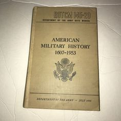 ROTCM 145-20 Dept of the Army ROTC Manual American Military History 1607-1953 | Collectibles, Militaria, 1954-60 | eBay!