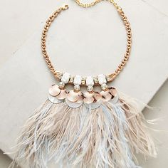 Heari Feather Bib Necklace