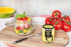 Fruchtiger+Reissalat+mit+Mango+und+Basilikum