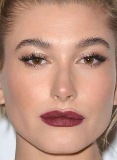 Close-up of Hailey Baldwin at the 2015 Night of Generosity Gala. http://beautyeditor.ca/2015/11/18/best-beauty-looks-jennifer-lawrence