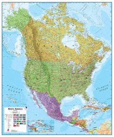 328 best geography images on pinterest geography globes and world maps international north america wall map laminated see this great image gumiabroncs Image collections