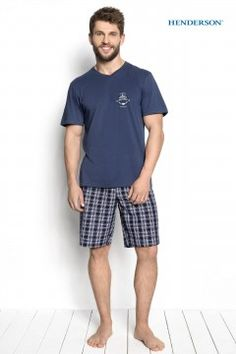 Piżama Dimer 34274-55X Niebieska