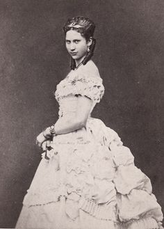 Princess Lovisa of Sweden, later Crownprincess and Queen of Denmark. Early 1870s.