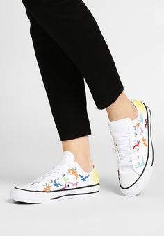 6ab55e0abdb5 To Get the Main Color of Blue Converse Chuck Taylor All Star Mara Hoffman  Birds Men Women Trainers Low At bestsellingwholesale - Converse Chuck  Taylor All ...