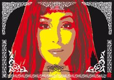 """""""Cher""""  A2 size: 42.0 cm X 59.4 cm (Signed Limited Edition Print of 50) $120 (Free P&P)  © 2000-2017 Ex-Voto Ltd. [creative thinking] All Rights Reserved."""
