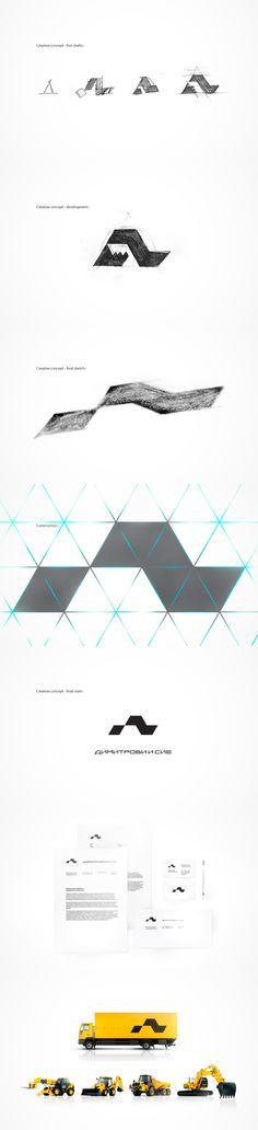 Dimitrovi  Co. Corporate identity Logo design process and application