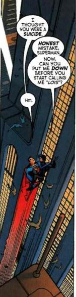 Superman makes a mistake that many people probably make when they see Nightwing.