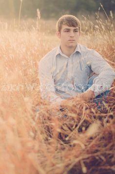 Senior guy in grass