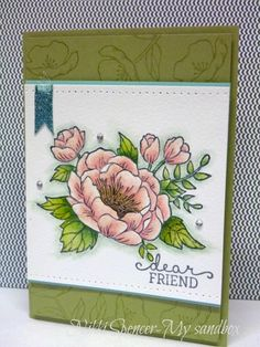 Stampin' Up! - Birthday Blooms - My Sandbox: Just Add Ink Birthday Bouquet, Birthday Cards For Women, Friendship Cards, Stamping Up Cards, Cards For Friends, Watercolor Cards, Card Sketches, Cool Cards, Flower Cards