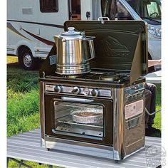 You've always wanted an oven when camping - now you can have one with the Camp Chef Outdoor Camp Oven Range and Stove. Camping Oven, Camping In Ohio, Yosemite Camping, Camping Needs, Camping With Kids, Family Camping, Camping Cooking, Luxury Camping Tents, Tent Camping