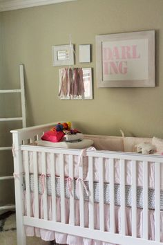 Darling Pink and Gray Nursery | projectnursery.com