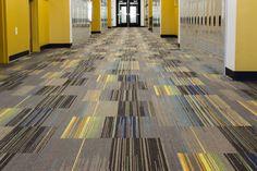 Carpet: Floor Carpet With Unique Design And Color Lines from The Best Commercial Carpet Tiles