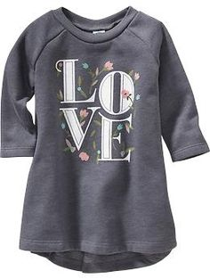 "Graphic ""LOVE"" A-Line Dress 