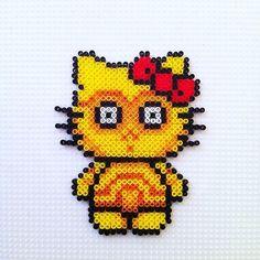 C3PO Hello Kitty hama beads by hadavedre