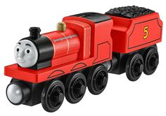 Thomas & Friends Wooden Railway James the Red Engine Y4070   #FisherPrice