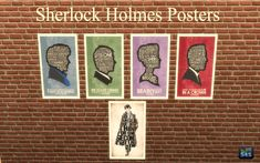Sherlock Holmes (BBC) set of paintings/posters for Sims 4.