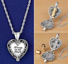 Memorial ashes locket lets you keep loved ones close to your heart and in your thoughts forever.