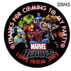 Personalised Marvel Heroes Round Stickers Party Thank You Seals Personalised Party Invitations, Party Bags, Marvel Heroes, Seals, Party Supplies, Thankful, Stickers, Ebay, Liqueurs