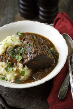 Braised Beef Roast with Red Wine and Rosemary