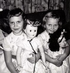 sisters  Sharon and me Christmas 1958. Christmas at grandmas waiting for new baby sister to come home to celebrate Christmas